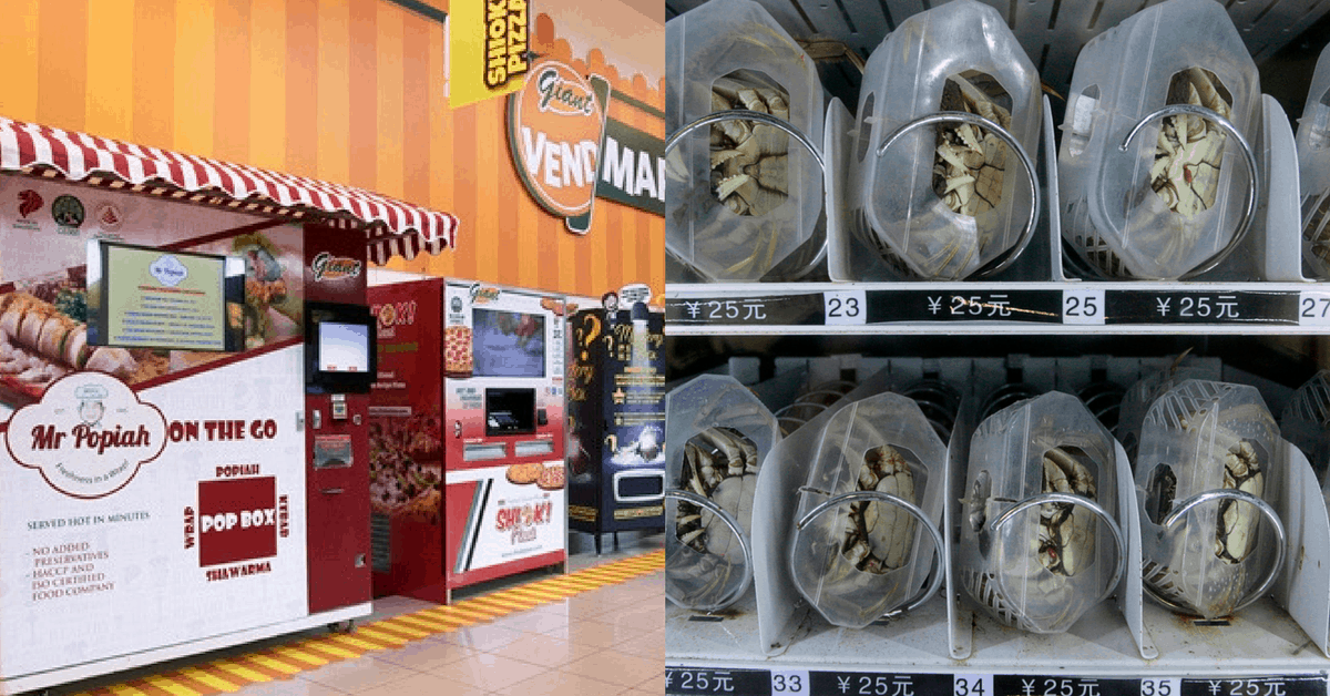 From Chilli Crabs, Pizzas, To Popiahs: What Other Quirky Vending Machines Are There?