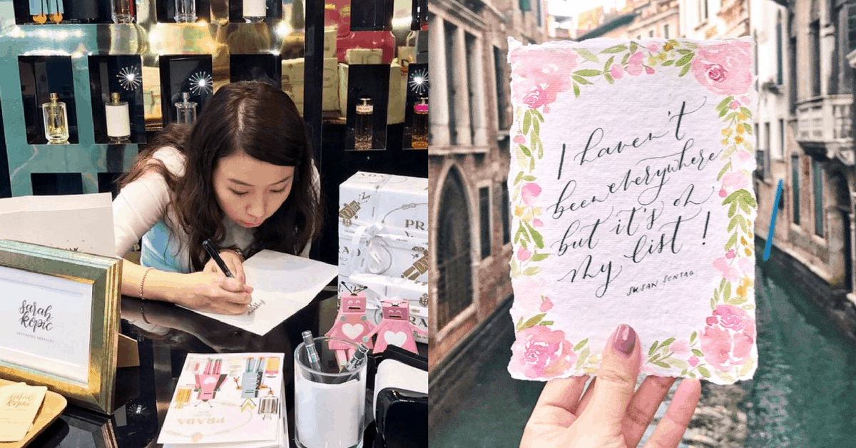 How This S'porean Calligrapher Went From Picking A Wrong Brush Pen To Having 13.2K Followers