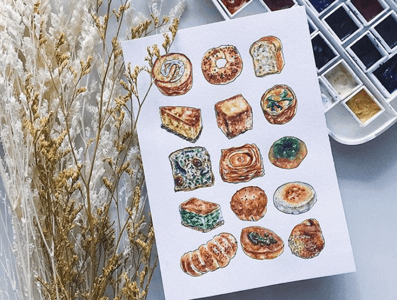 This Local Illustrator Turns Your Favourite Food Into 6cm-Sized Drawings