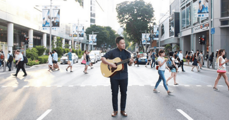 Fresh Out Of University, This S'porean Decided To Become A Street Busker