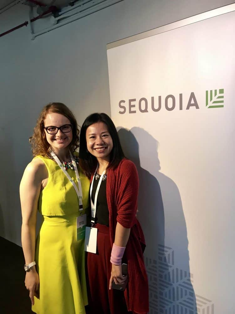 women happy smiling sequoia vc funding startup