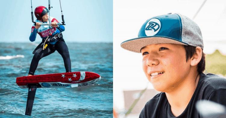 This 12-Year-Old Singaporean Kiteboarder Is Making Waves Internationally
