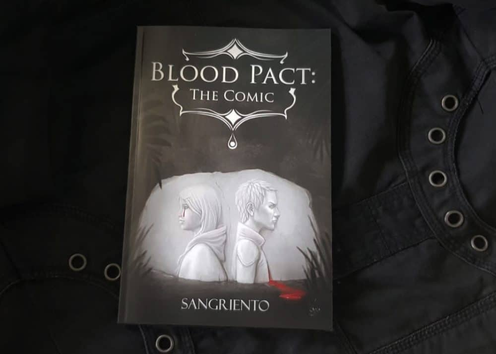 Sangrientos' comic book, titled Blood Pact.