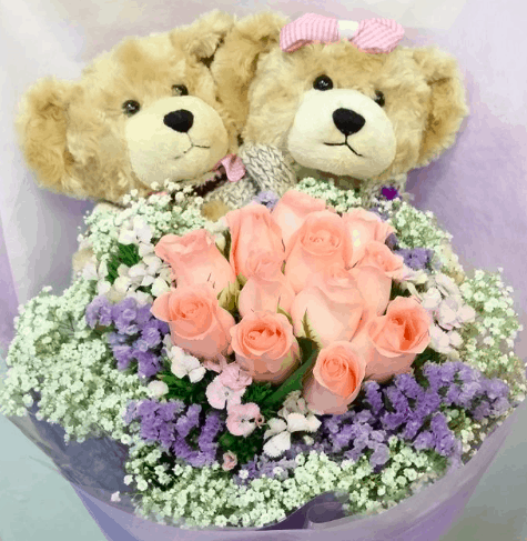 Soft toy bouquet