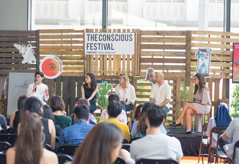 Raye speaking at The Conscious Festival 2019